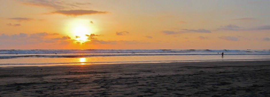A Perfect finish to a days surf coaching in Costa Rica