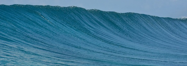 A perfect unridden wave, just as perfect for surf coaching on