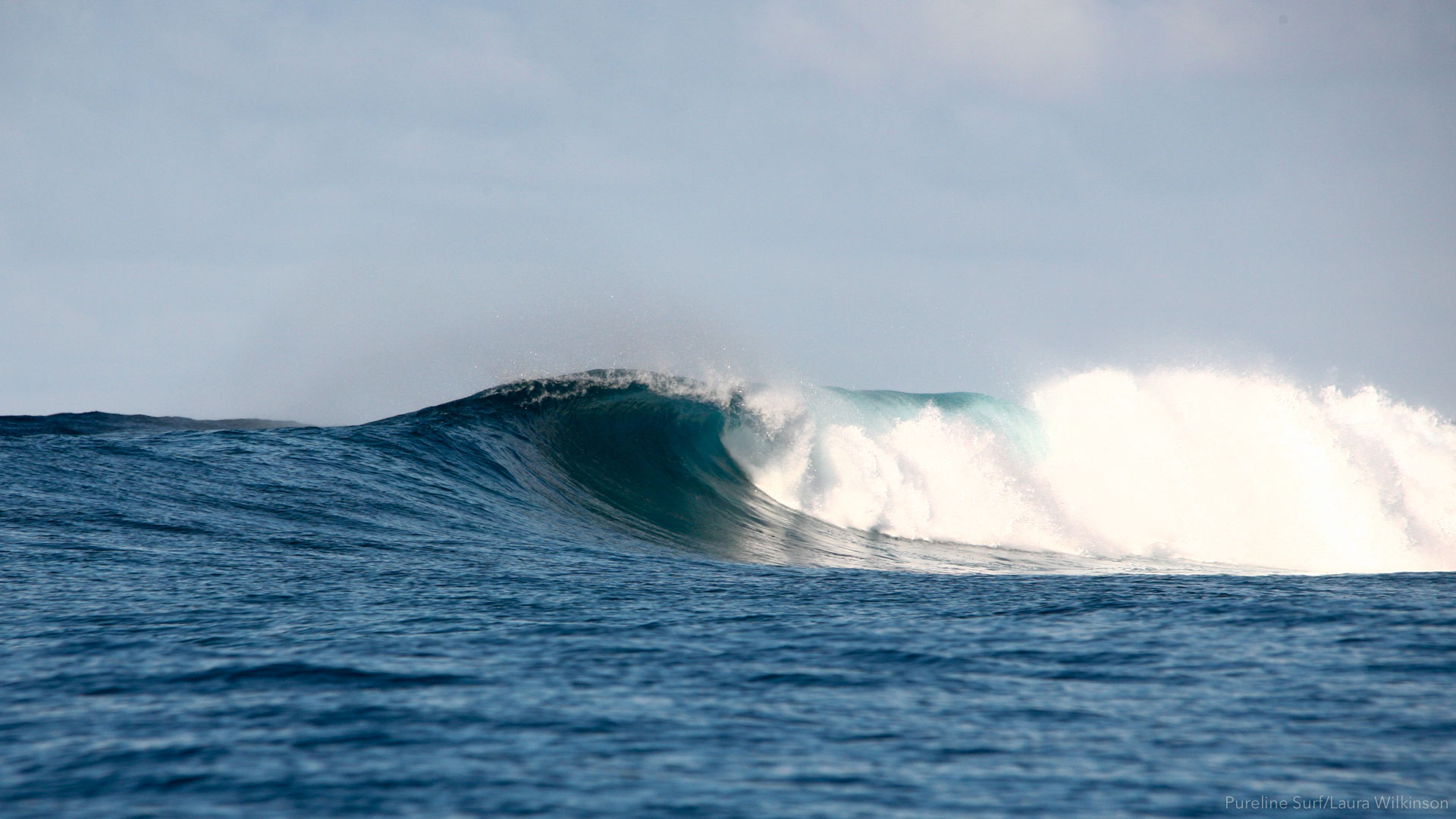 Wilkes Pass Fiji a beautiful day of uncrowded surf