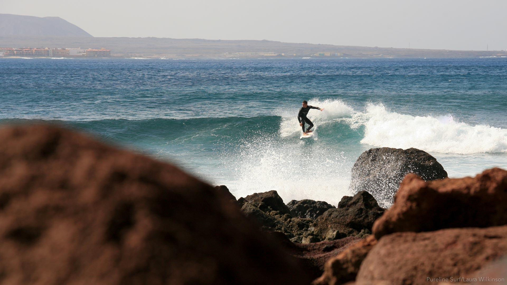 Lobos in Fuerteventura is one of the best right point breaks in the world.