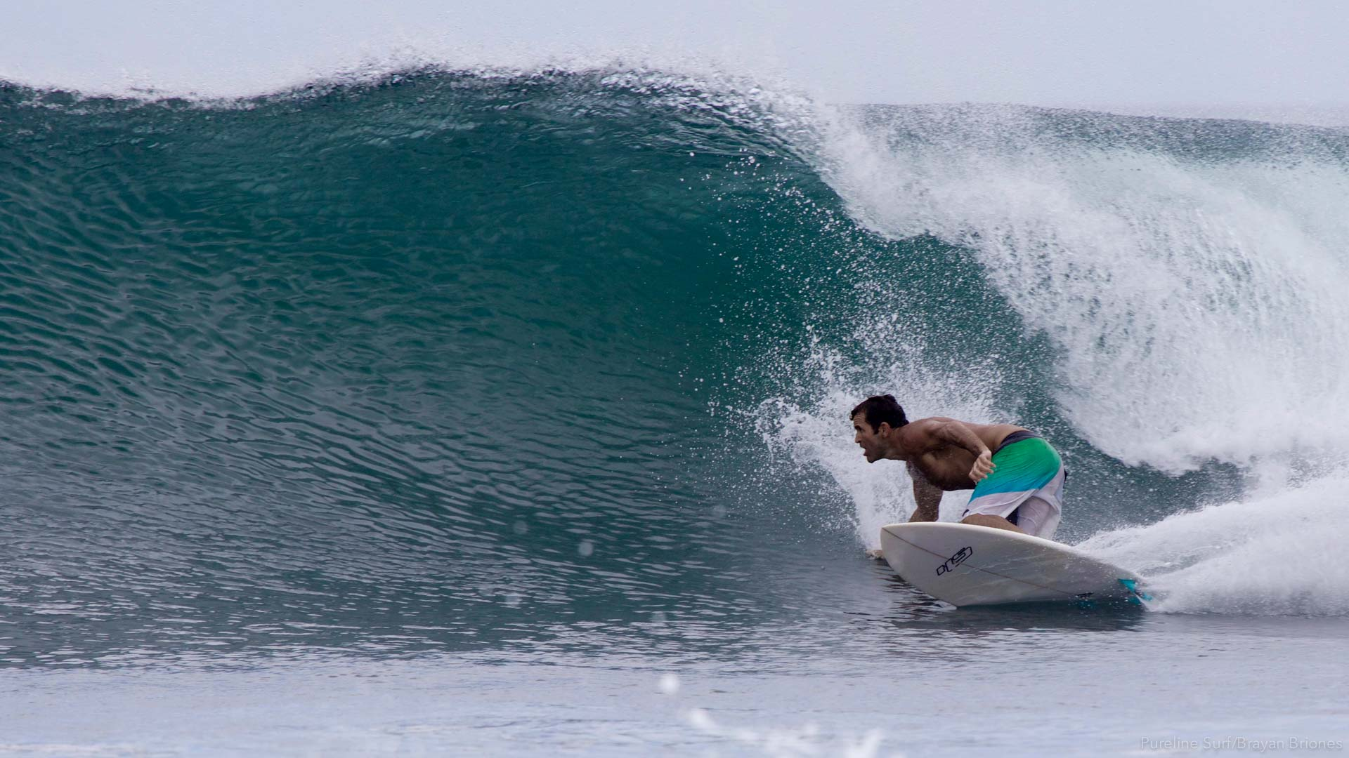Ollies Point bottom turn. Costa Rican Surf Trips are never complete without a trip to Ollie's with Pureline Surf Coaching.