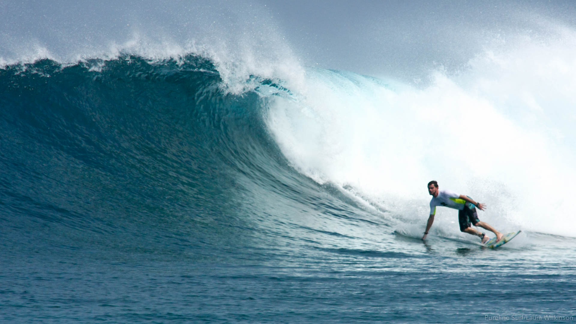 Sultans in the Maldives is a great surf spot, a wave we really enjoy utilising in our worldwide surf coaching trips with Pureline Surf.