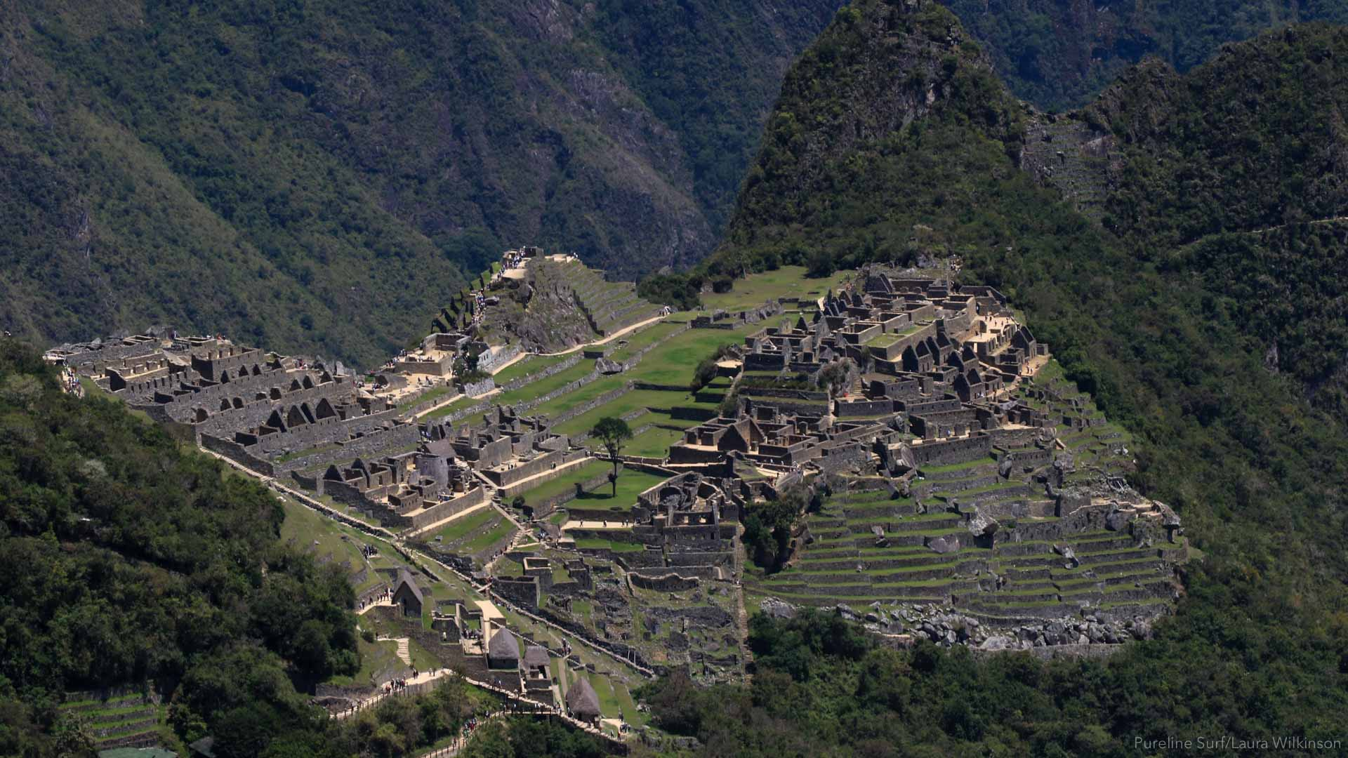 Macchu Picchu can be combined with a worldwide surf coaching trip with Pureline Surf to Peru
