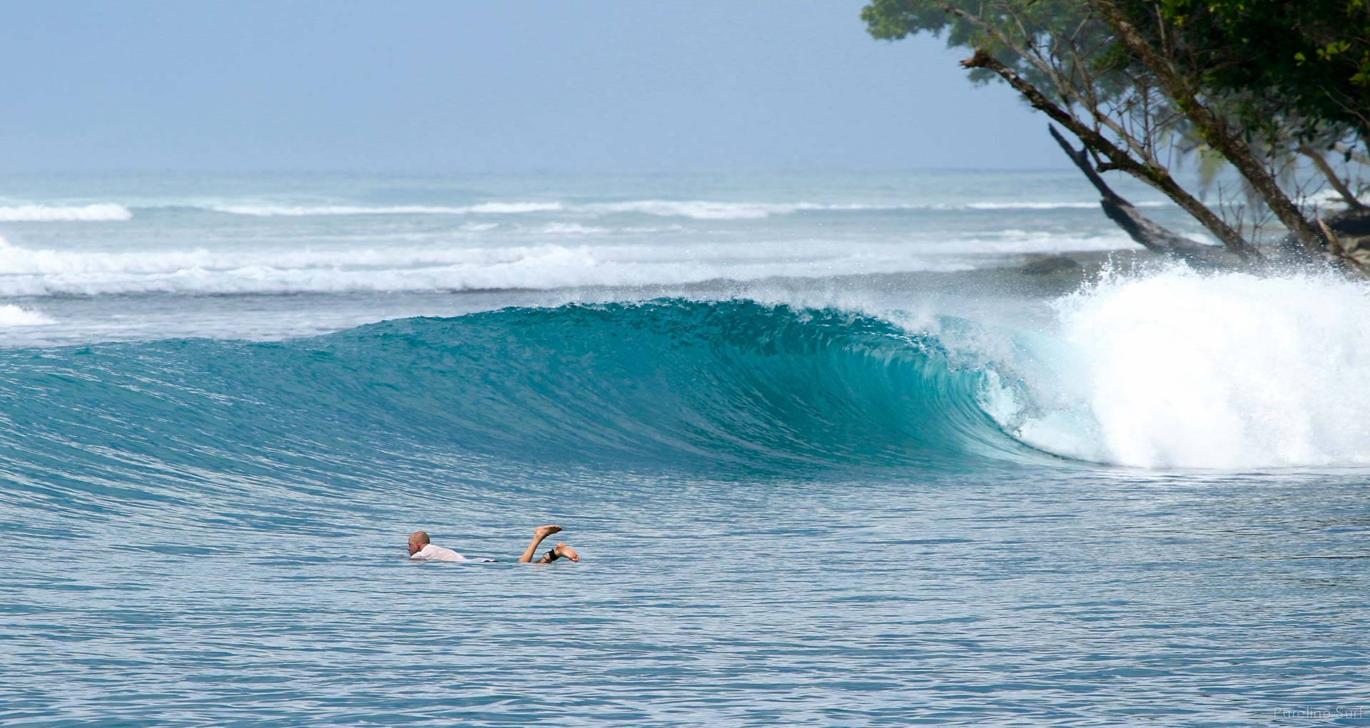 Another wave goes by without a rider. Our coaching style at Pureline Surf wants to make sure we respect the line up in any location.